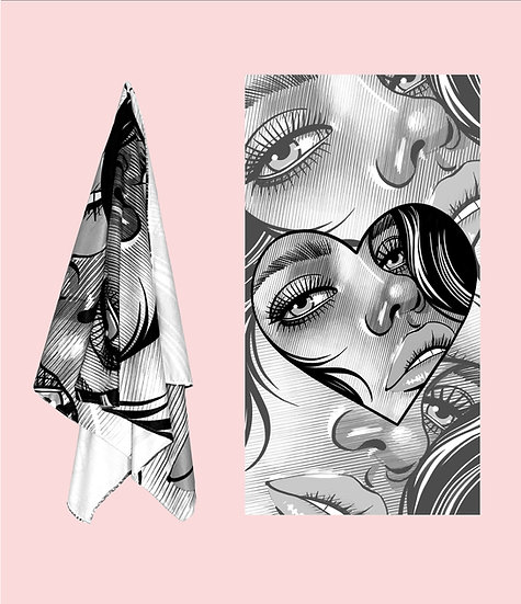 Girl's face - Beach Towel