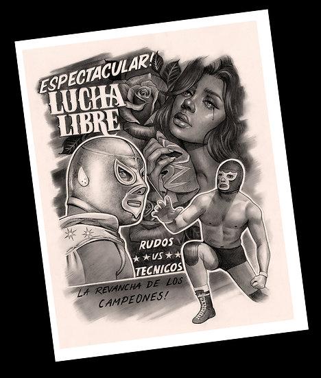 Lucha libre print