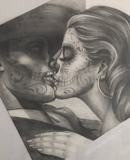 Mexican Couple kissin