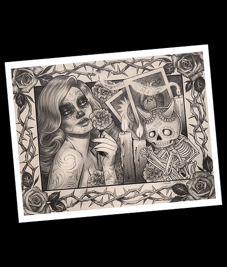 Day of the dead print -