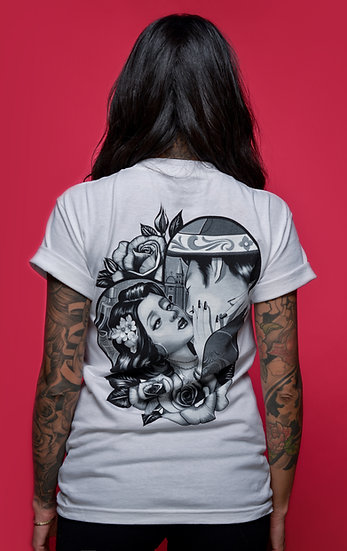 From Mexico with Love - couple in a heart white tee