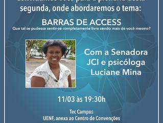A Federação de Jovens líderes se abre para Barra de Access em Campos.