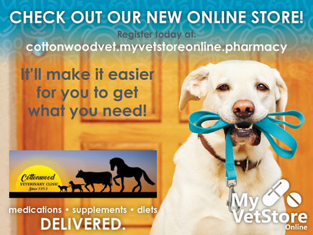 Visit our New Online Vet Store!