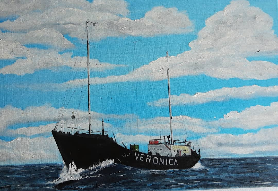 boat at sea, veronica
