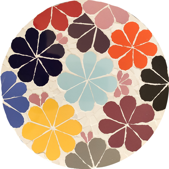 Mosaïque Daisy multicolore fleurs