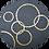 Thumbnail: Table basse en mosaïque & socle doré // Edition LIMITEE