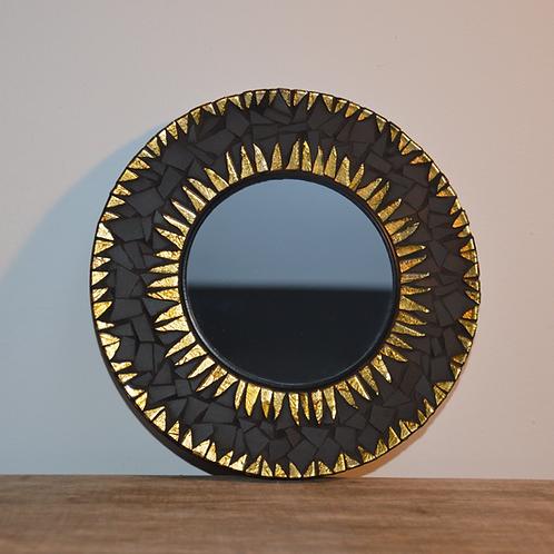 Miroir rond en mosaïque