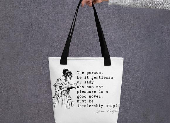 Jane Austen 'Intolerably Stupid' - Tote bag