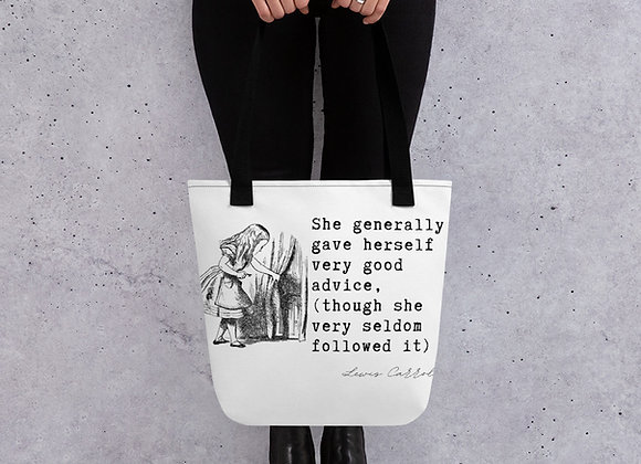 Lewis Carroll 'Alice In Wonderland' Tote bag