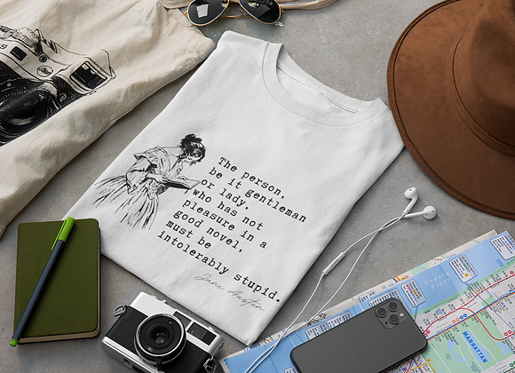 Jane Austen 'Intolerably Stupid' - Short sleeve t-shirt