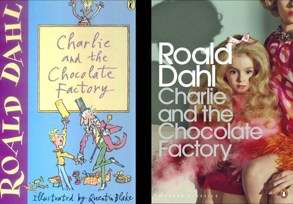 Charlie and the Chocolate Factory book covers