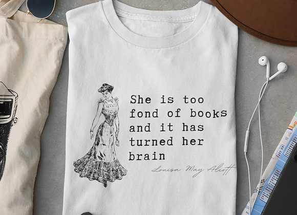 Louisa May Alcott Quote - Women's short sleeve t-shirt