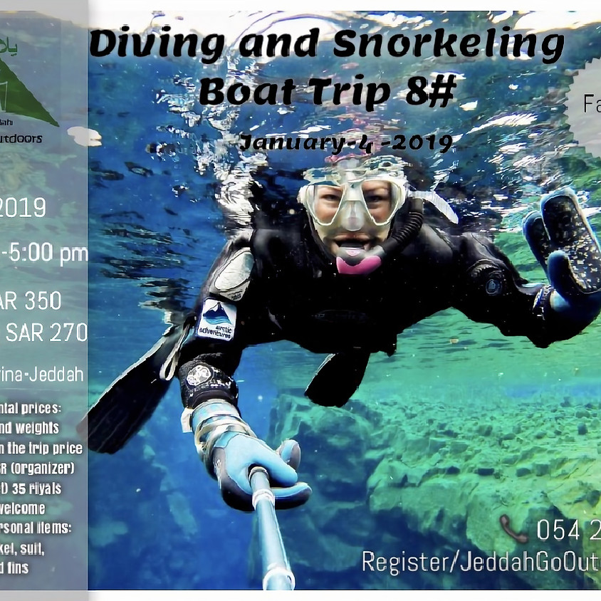 Boat Trip #8 ( Diving & Snorkeling)  for family only