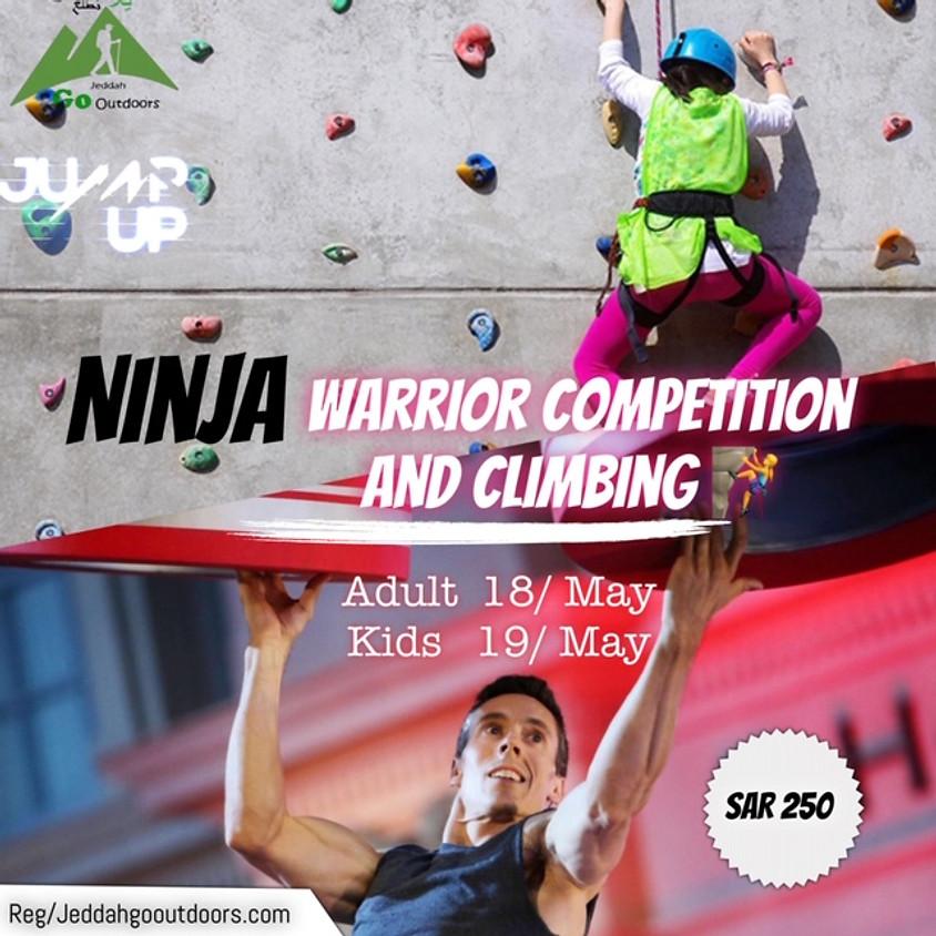 Ninja Warrior competition and climbing