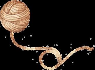 Dessin de laine fil