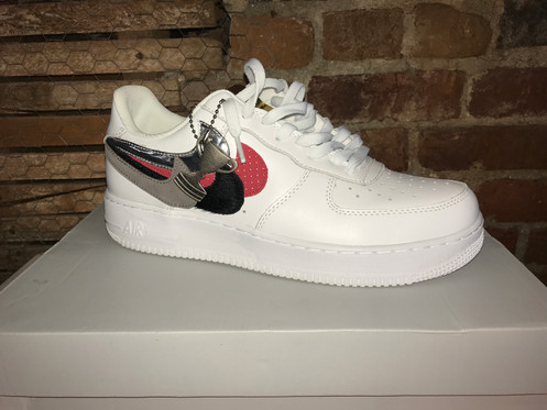 size 40 50262 af51b Air Force 1 Low John Geiger Misplaced Checks White Size 9.5