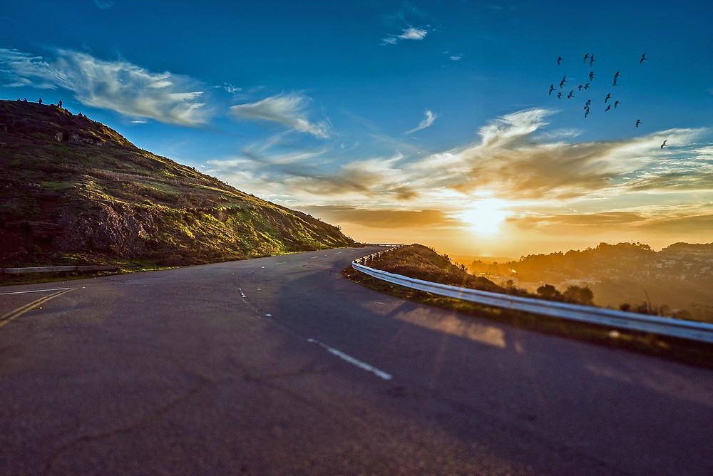 Sunset open road