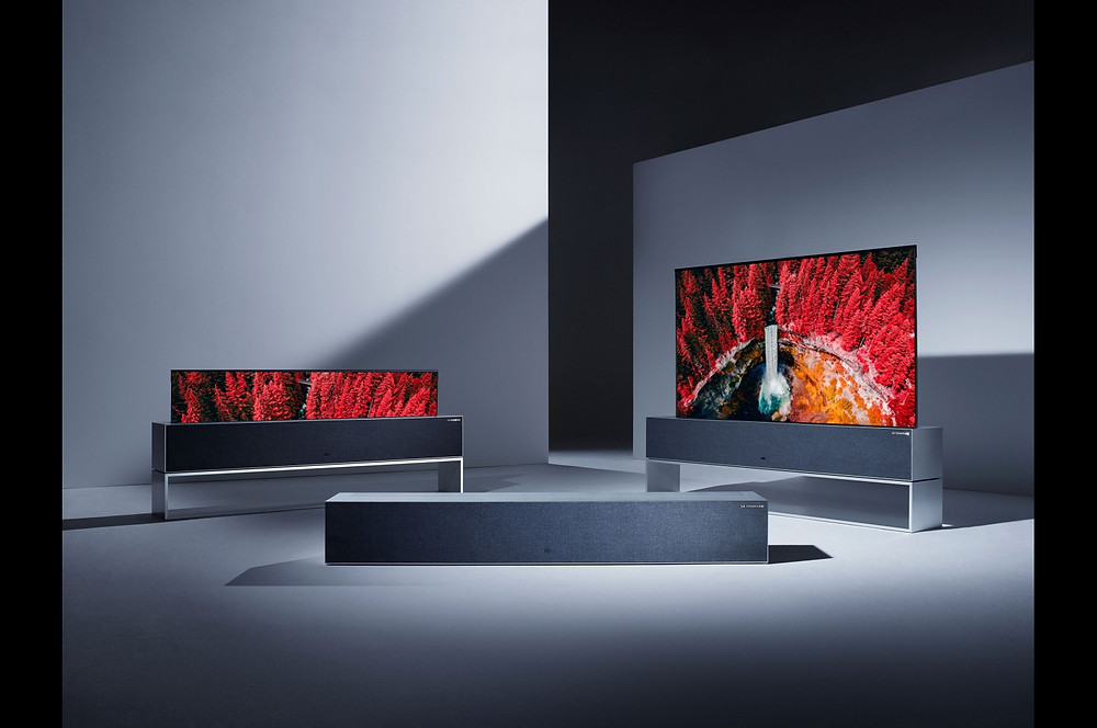 The OLED R9 rolling TV screen demonstration