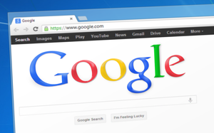 Image of Google Chrome web browser with Google.com search console open.