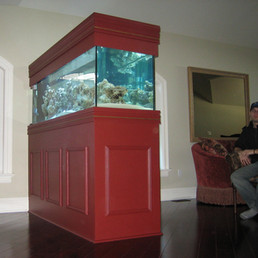 Custom Aquarium Wood Cabinets