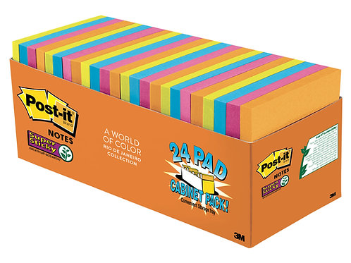 Post-it® Super Sticky Cabinet Pack 24 pads - Rio De Janeiro