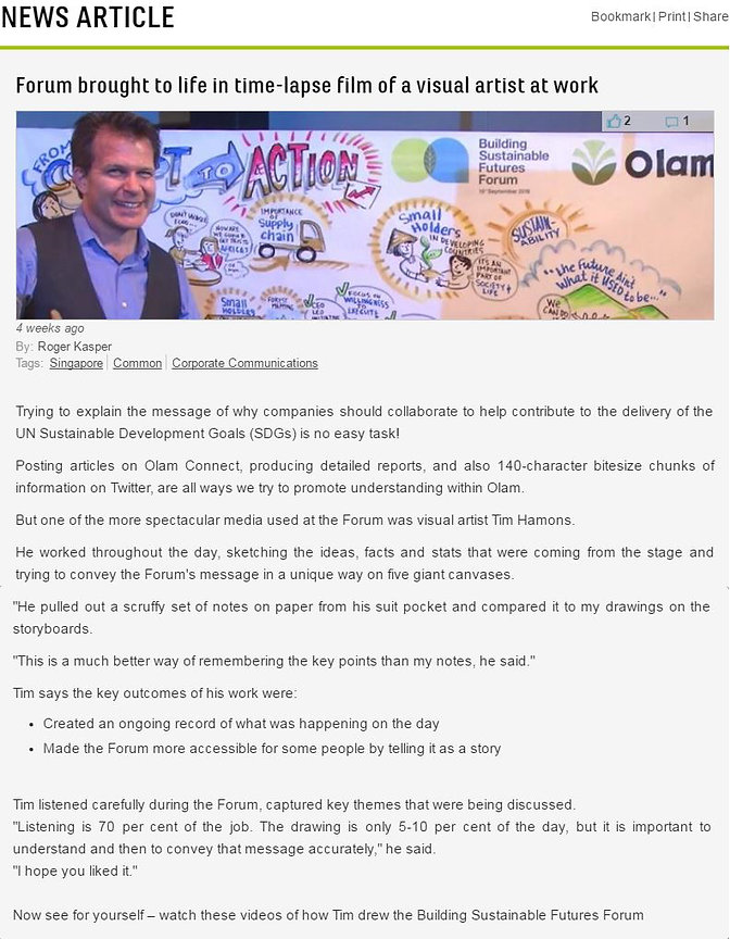 Graphic Recording Testimonial from OLAM