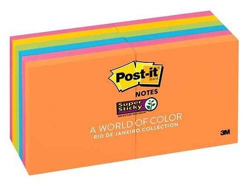 Post-it® Super Sticky 12 Pads - Rio De Janeiro