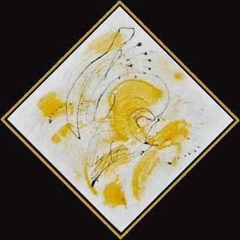 """""""Caliente"""", Mischtechnik mit Sand auf Leinwand, 80 x80 cm"""
