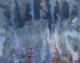 """""""Brouillard"""" 80 x 100 cm 2017 Mischtechnik auf Leinwand"""