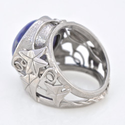 Palladium & Star Sapphire Ring