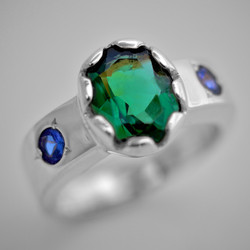Sapphire and Emerald Ring