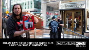 NINTENDO SWITCH OLED & METROID DREAD RELEASE DAY at NINTENDO NY