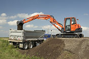 Earthworks, Digger and Truck