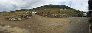 Schist Rock Entranceway and Drive