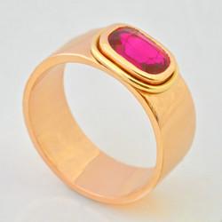 18K Pink Gold & Ruby Ring