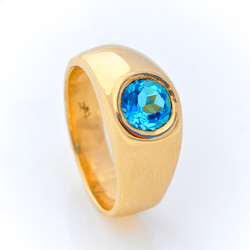 Gold with Blue Topaz