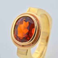 14K Yellow Gold & Citrine Ring