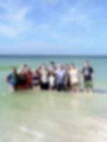 Florida, family, friends, beach picnic