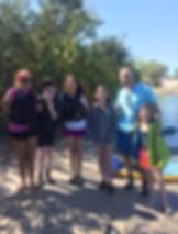 family, friends, kayak, paddleboard