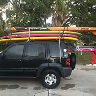 Jeep, paddleboards, Yolo