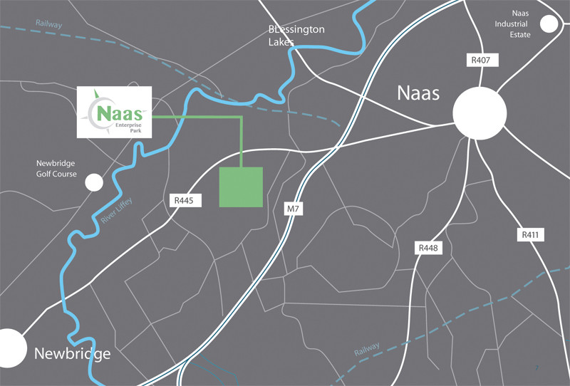 Map of new location in Ladytown Business Park (also known as Tokers and Naas Enterprise Park)