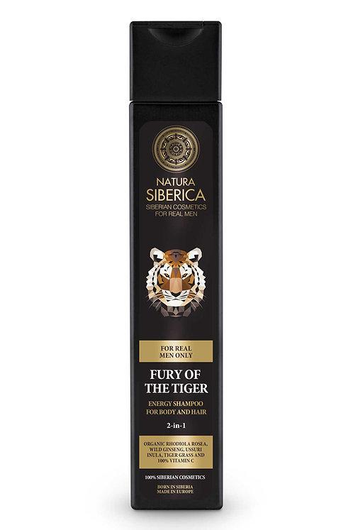 Шампунь-энергетик для волос и тела «Ярость тигра»