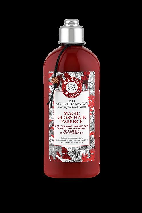 Драгоценный индийский тоник-ополаскиватель для красоты и блеска волос planeta organica