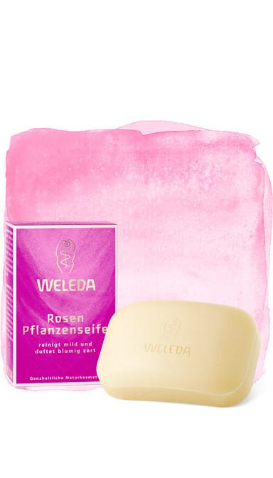 Розовое растительное мыло