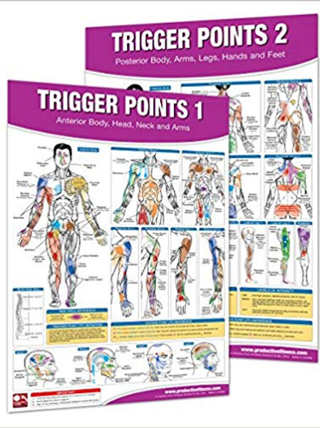 Trigger Point Therapy Chart/Poster Set; Acupressure Charts - Myofascial Trigger