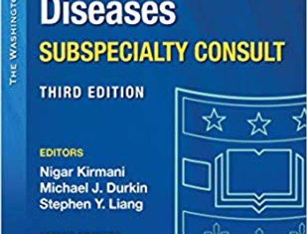 Washington Manual Infectious Disease Subspecialty Consult Third Edition |  pearson-prometric