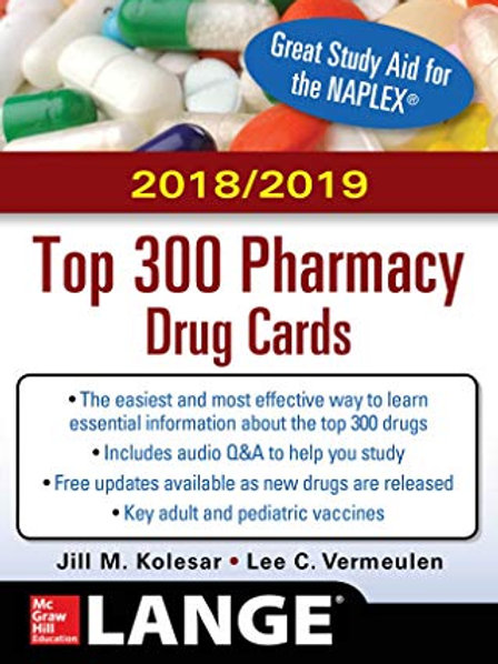 McGraw-Hill's 2018/2019 Top 300 Pharmacy Drug Cards 4th Edition