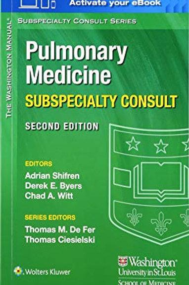 The Washington Manual Pulmonary Medicine Subspecialty Consult (The Washington Ma