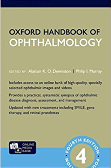 Oxford Handbook of Ophthalmology (Oxford Medical Handbooks) 4th Edition