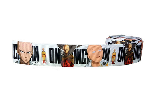 25mm Wide One Punch Man (White) Martingale Collar